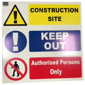 CONSTRUCTION SITE 'KEEP OUT' NOTICE