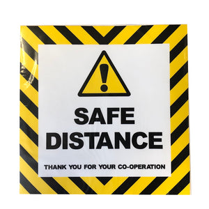 "Covid-19 ""Safe Distance"" Floor Sticker"