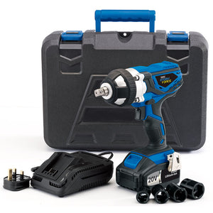 DRAPER 20V CORDLESS IMPACT WRENCH WITH 2 LI-ION BATTERIES (3.0AH)