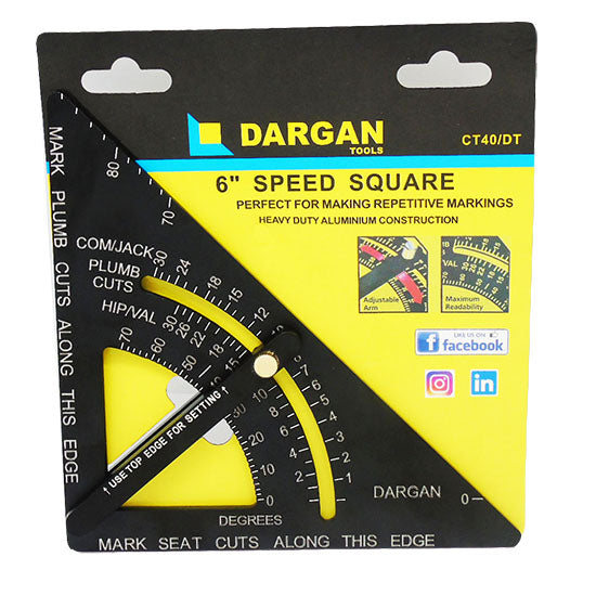 Dargan 6″ Aluminium Speed Square