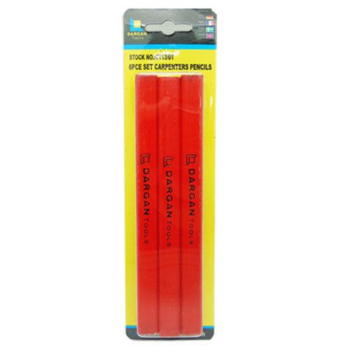 Dargan Professional Quality Carpenters Pencils (Pack of 6)