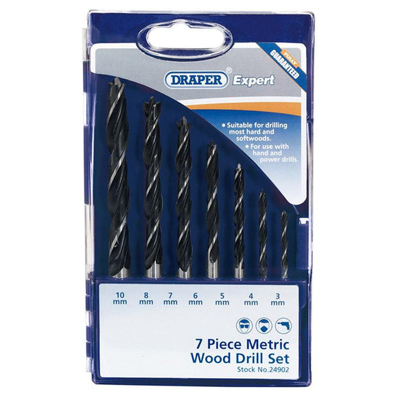 Draper Metric Wood Drill Bit Set (7 Piece)