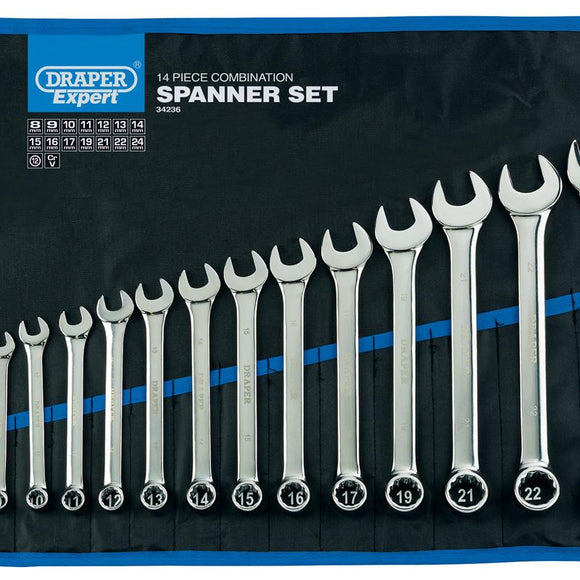 Draper Metric Combination Spanner Set (14 Piece)