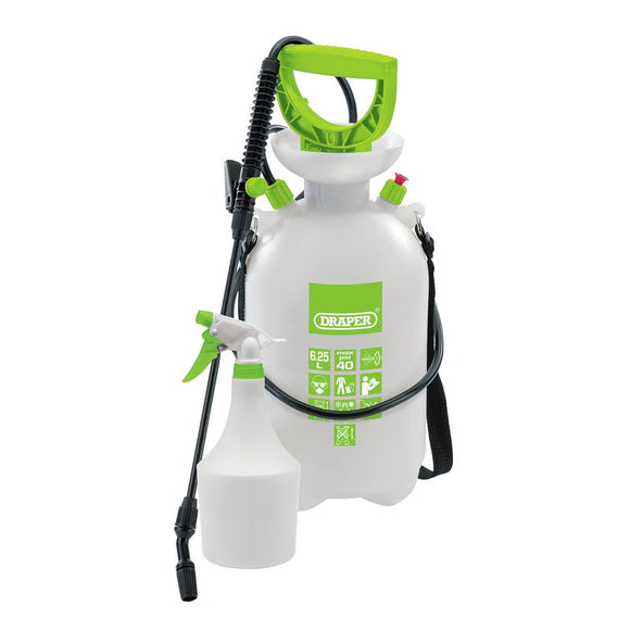 Draper Pressure Sprayer (6.25L) with Mini Sprayer (1L)