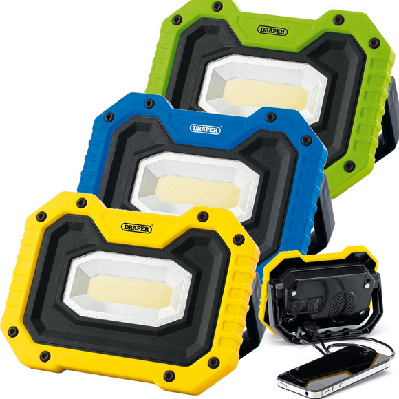 Draper Rechargeable Worklight with Wireless Speaker