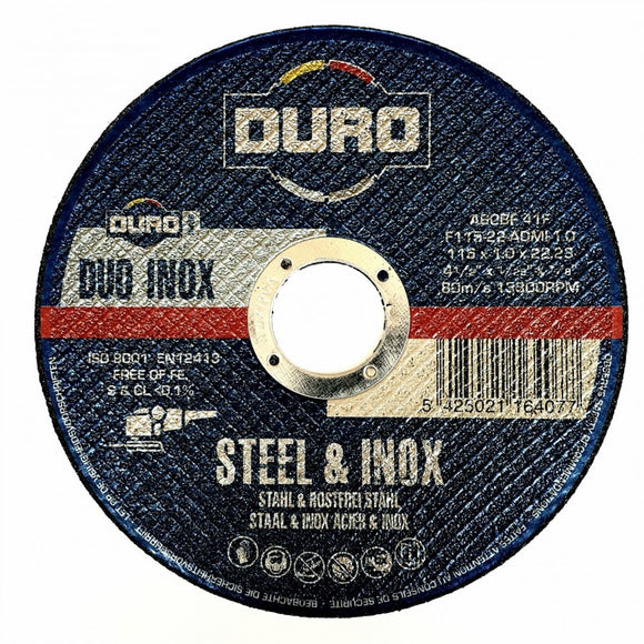 Duro Metal Cutting Blade 115x 1.0mm(pack of 5)