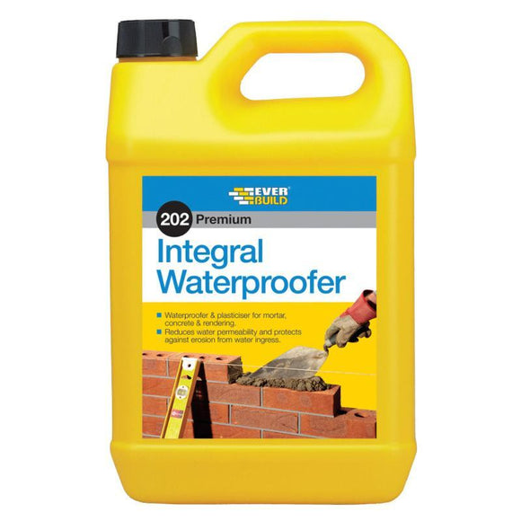 Everbuild 202 Integral Liquid Waterproofer 5Ltr (Box of 4)