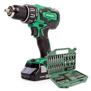 HiKoki (Hitachi) 2 x 3.0Ah Combi Drill & Free 42pc Bit Set