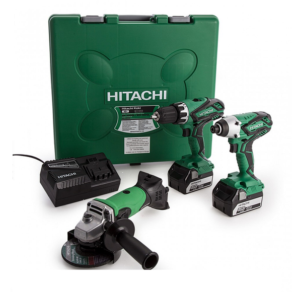 HiKoki Twin Drill & Angle Grinder 2 x 5.0Ah Kit Deal