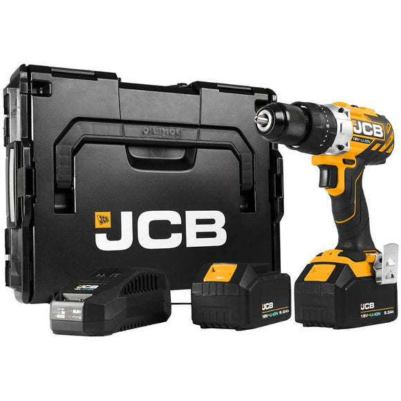 JCB 18V Brushless Combi Drill 2 X 5.0Ah Kit