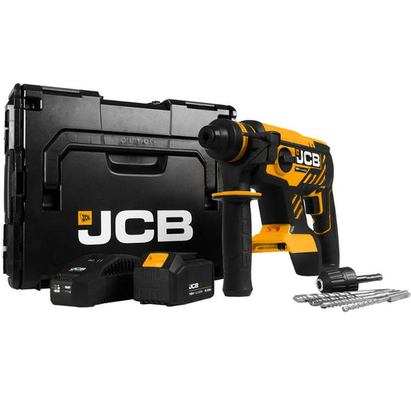 JCB 18V Brushless Rotary Hammer Drill 1 X 5.0Ah Battery Kit