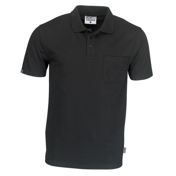 JCB Essential Black Polo Shirt With Pocket