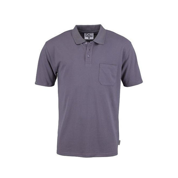 JCB Essential Grey Polo Shirt With Pocket