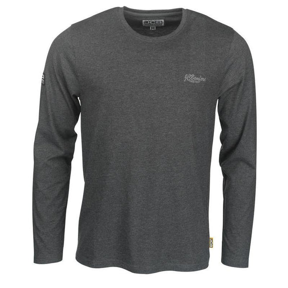 JCB GREY MARL TRADE LONG SLEEVE T-SHIRT