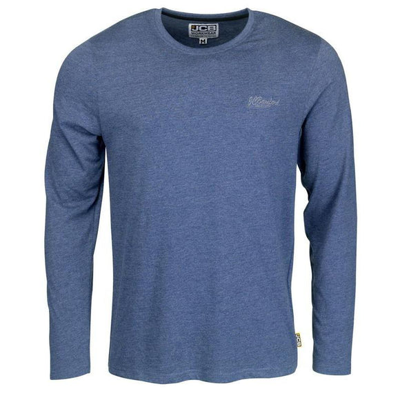 JCB NAVY MARL LONG SLEEVE T-SHIRT
