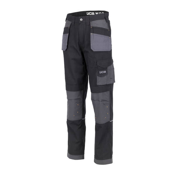 JCB Trade Plus Rip Stop Black/Grey Trouser