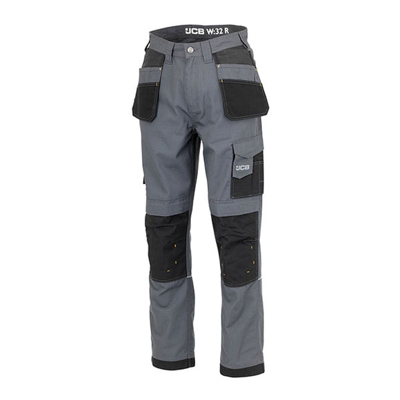 JCB Trade Plus Rip Stop Grey/Black Trouser