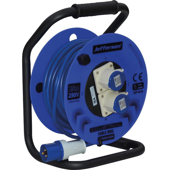 Jefferson 25m 230V 16A Industrial Cable Reel