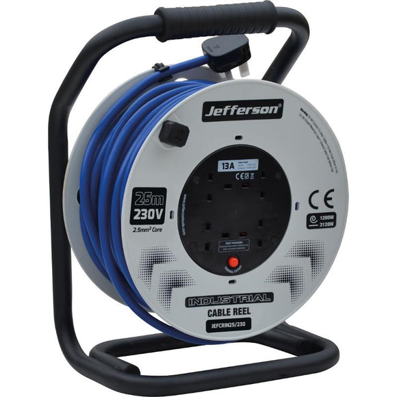 Jefferson 25m 230V Industrial Cable Reel
