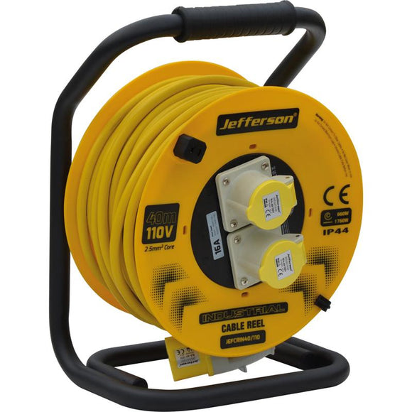 Jefferson 40m 110V Industrial Cable Reel