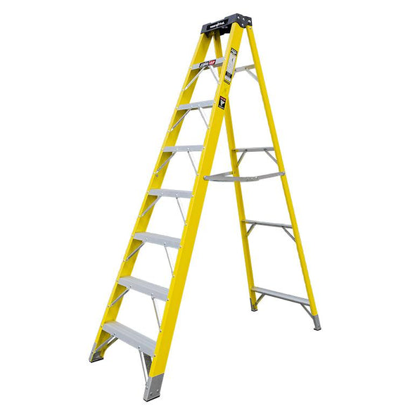 Jefferson 7+1 Tread Fibreglass Step Ladder