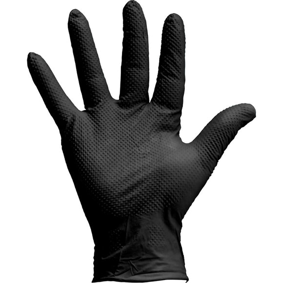 Jefferson Gecko-Grip Black Nitrile Gloves (Box of 90)