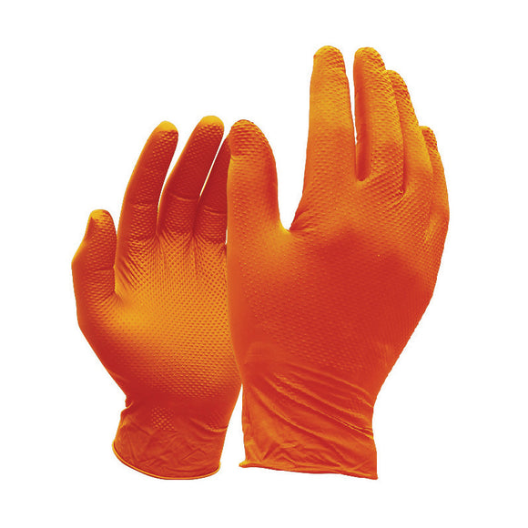 Jefferson Gecko-Grip Orange Nitrile Gloves (Box of 50)