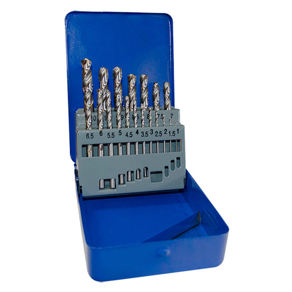 Jefferson HSS Fully Ground 19 Piece Drill Bit Set