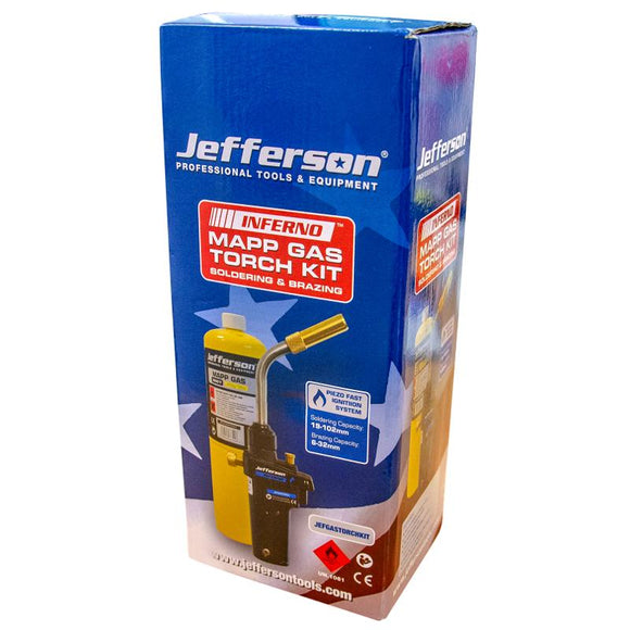 Jefferson Soldering & Braxing Gas Torch & Mapp Gas Kit