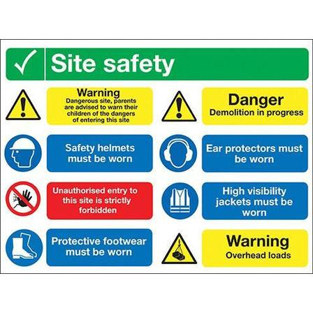 8 Panel Site Safety Sign