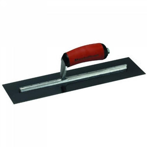 "MARSHALLTOWN BLUE STEEL FINISHING TROWEL - CURVED DURASOFT HANDLE 25"" X 5"""