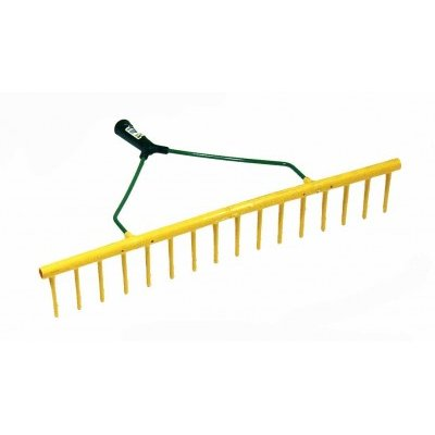 Plastic Yellow Landscape Rake 16 Teeth Straight