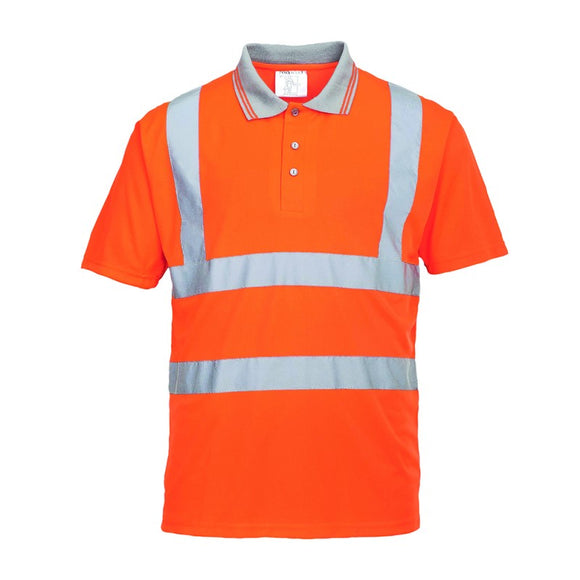 PORTWEST HI-VIS POLO SHIRT S/S
