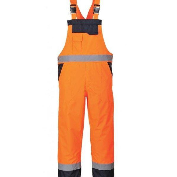 PORTWEST CONTRAST COLD-WEATHER BIB & BRACE – LINED