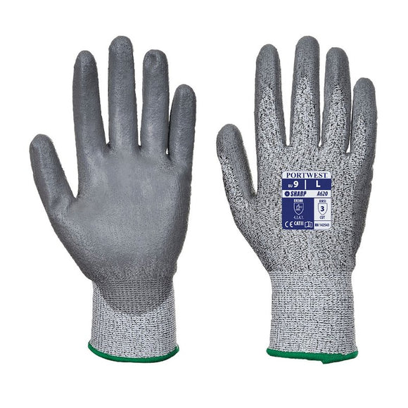 PORTWEST CUT 3 PU PALM GLOVE (PACK OF 12)