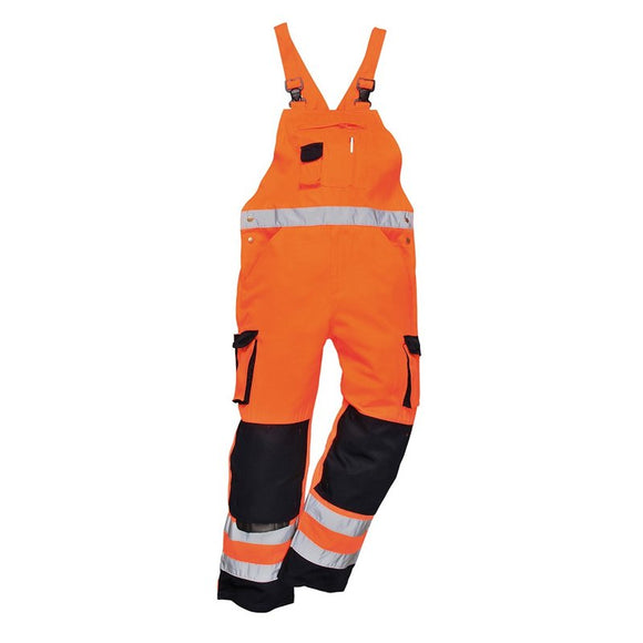 PORTWEST DIJON HI-VIS BIB AND BRACE