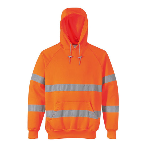 PORTWEST HI-VIS HOODED SWEATSHIRT