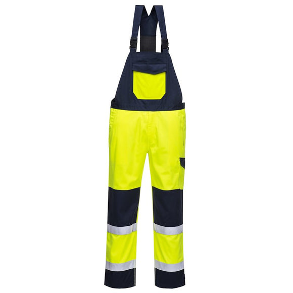 PORTWEST HI VIS MODAFLAME BIB AND BRACE