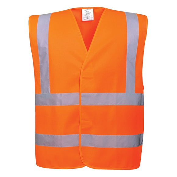 PORTWEST HI-VIS TWO BAND & BRACE VEST