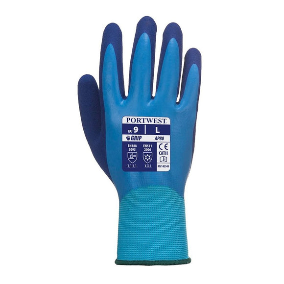 PORTWEST WATERPROOF BUILDERS GLOVES - (PACK OF 12)