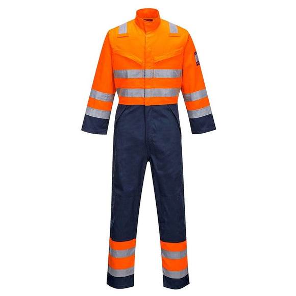 PORTWEST MODAFLAME RIS NAVY/ORANGE COVERALL