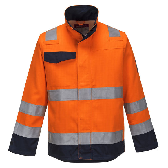 PORTWEST MODAFLAME RIS ORANGE/NAVY JACKET
