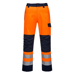 PORTWEST MODAFLAME RIS ORANGE/NAVY TROUSER
