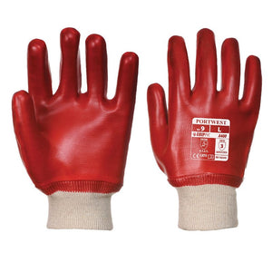 PORTWEST PVC KNITWRIST GLOVES (PACK OF 12)