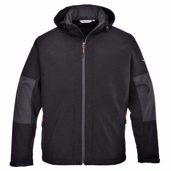 PORTWEST SOFTSHELL WITH HOOD (3L)