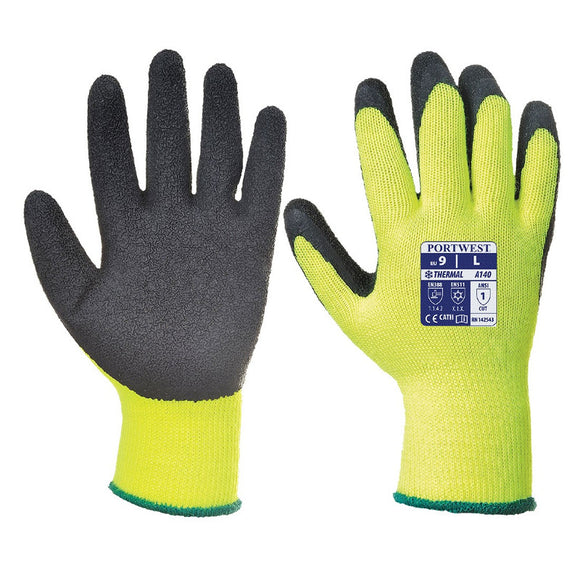 Portwest Thermal Grip Glove - Latex - (PACK OF 12)