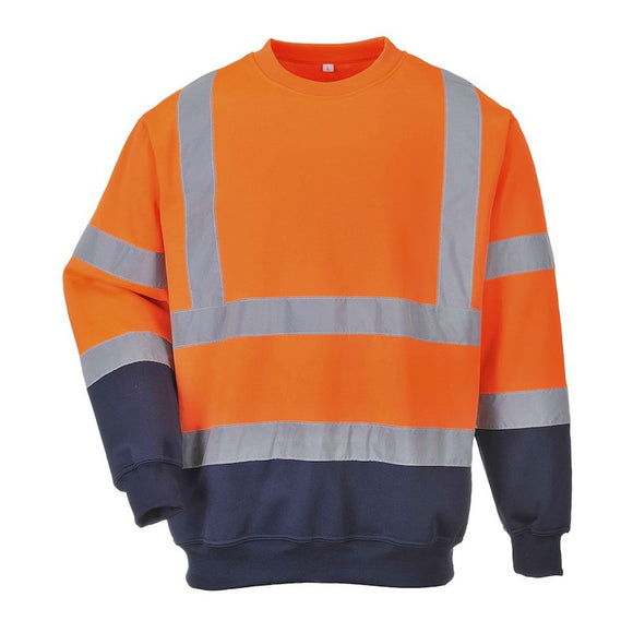 PORTWEST TWO TONE HI-VIS SWEATSHIRT
