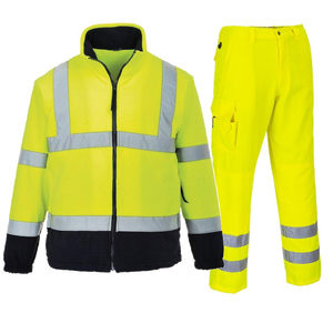 PORTWEST TWO TONE FLEECE & HI VIS COMBAT TROUSERS