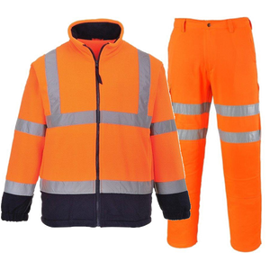PORTWEST TWO TONE FLEECE & RAIL COMBAT TROUSERS