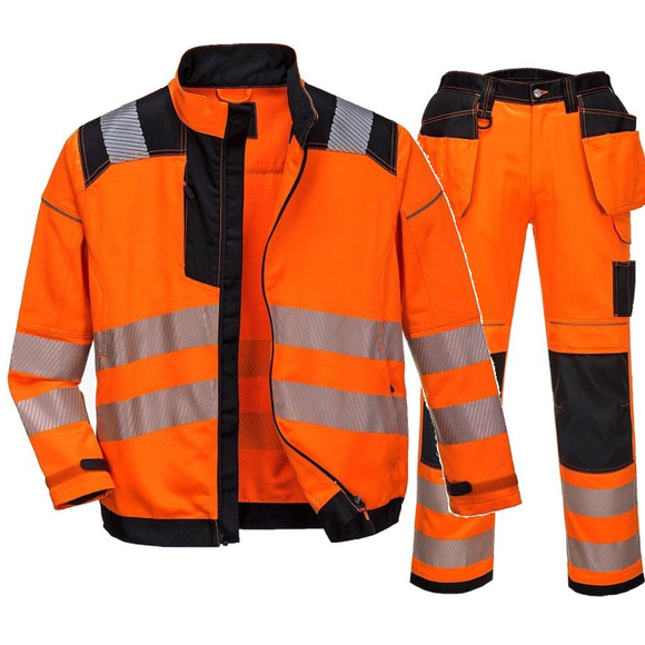 PORTWEST HI-VIS JACKET & TROUSERS SUIT